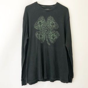 Lucky Brand distressed thermal shirt